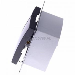 Simon 54 DZP1W.01/48 - Przycisk żaluzjowy do sterowania jedną roletą z wielu miejsc, impulsowy - Antracyt - Podgląd zdjęcia 360st. nr 6