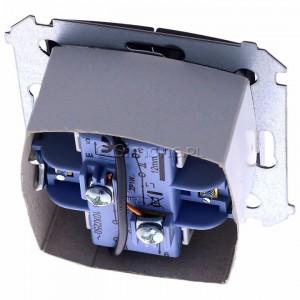 Simon 54 DZP1W.01/48 - Przycisk żaluzjowy do sterowania jedną roletą z wielu miejsc, impulsowy - Antracyt - Podgląd zdjęcia 360st. nr 4