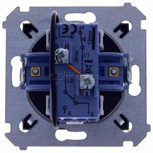 Simon 54 DZP1W.01/48 - Przycisk żaluzjowy do sterowania jedną roletą z wielu miejsc, impulsowy - Antracyt - Podgląd zdjęcia 360st. nr 9