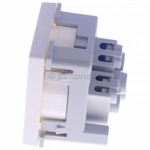 Simon Connect K02/9 - Gniazdo K45 z uziemieniem 16A/230V~  czysta biel - Podgląd zdjęcia 360st. nr 6