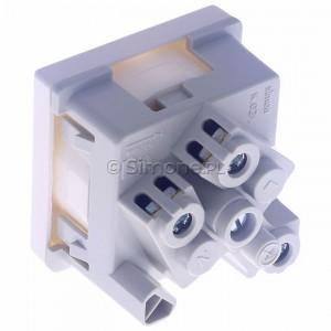 Simon Connect K02/9 - Gniazdo K45 z uziemieniem 16A/230V~  czysta biel - Podgląd zdjęcia 360st. nr 5
