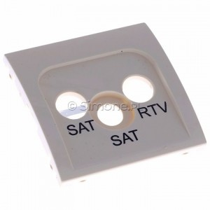 Simon Classic MAS2P/10 - Pokrywa gniazda antenowego RTV-SAT-SAT - Ecru - Podgląd zdjęcia 360st. nr 1