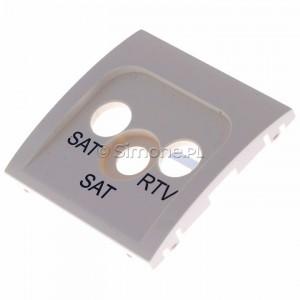 Simon Classic MAS2P/10 - Pokrywa gniazda antenowego RTV-SAT-SAT - Ecru - Podgląd zdjęcia 360st. nr 7