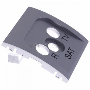 Simon Classic MASP/26 - Pokrywa gniazda antenowego RTV-SAT końcowego i przelotowego - Aluminiowy Met. - Podgląd zdjęcia 360st. nr 2
