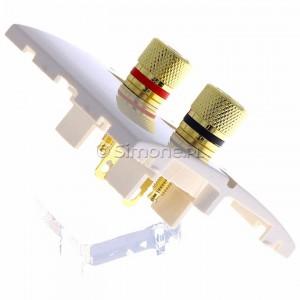 Simon Classic MGL2.02/10 - Gniazdo głośnikowe pojedyncze typu Banan - 1 kolumna głośnikowa (Mechanizm + Plakietka) - Ecru - Podgląd zdjęcia 360st. nr 3