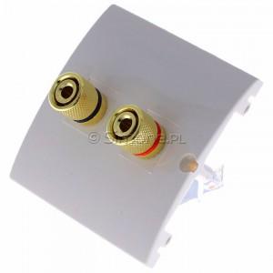 Simon Classic MGL2.02/10 - Gniazdo głośnikowe pojedyncze typu Banan - 1 kolumna głośnikowa (Mechanizm + Plakietka) - Ecru - Podgląd zdjęcia 360st. nr 7