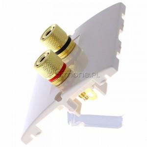 Simon Classic MGL2.02/10 - Gniazdo głośnikowe pojedyncze typu Banan - 1 kolumna głośnikowa (Mechanizm + Plakietka) - Ecru - Podgląd zdjęcia 360st. nr 6
