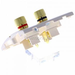 Simon Classic MGL2.02/10 - Gniazdo głośnikowe pojedyncze typu Banan - 1 kolumna głośnikowa (Mechanizm + Plakietka) - Ecru - Podgląd zdjęcia 360st. nr 5