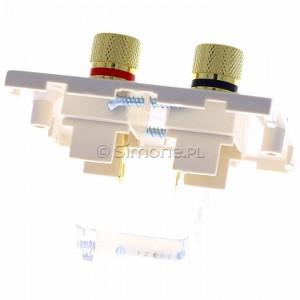 Simon Classic MGL2.02/10 - Gniazdo głośnikowe pojedyncze typu Banan - 1 kolumna głośnikowa (Mechanizm + Plakietka) - Ecru - Podgląd zdjęcia 360st. nr 4
