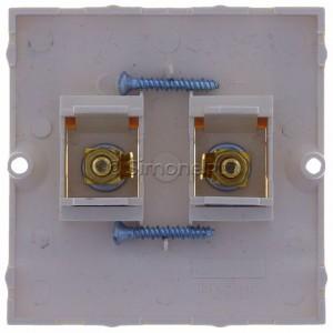 Simon Classic MGL2.02/10 - Gniazdo głośnikowe pojedyncze typu Banan - 1 kolumna głośnikowa (Mechanizm + Plakietka) - Ecru - Podgląd zdjęcia 360st. nr 9