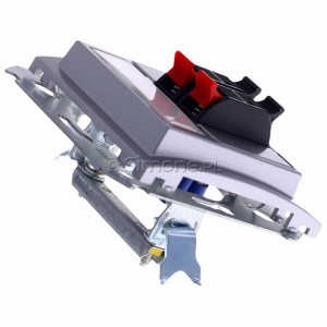 Simon Classic MGL3.01/26 - Gniazdo głośnikowe podwójne z możliwością rozbudowy do 4-krotnego (Mechanizm + Plakietka) - Aluminiowy Met. - Podgląd zdjęcia 360st. nr 3
