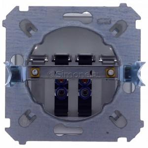 Simon Classic MGL3.01/26 - Gniazdo głośnikowe podwójne z możliwością rozbudowy do 4-krotnego (Mechanizm + Plakietka) - Aluminiowy Met. - Podgląd zdjęcia 360st. nr 9