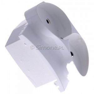 Simon Classic MGZ2MzP/11 - Pokrywa gniazda podwójnego z bolcem uziemiającym i przesłonami torów prądowych - Biały - Podgląd zdjęcia 360st. nr 2