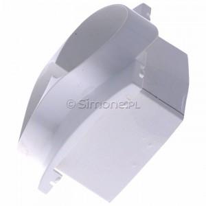 Simon Classic MGZ2MzP/11 - Pokrywa gniazda podwójnego z bolcem uziemiającym i przesłonami torów prądowych - Biały - Podgląd zdjęcia 360st. nr 6