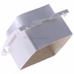 Simon Classic MGZ2MzP/11 - Pokrywa gniazda podwójnego z bolcem uziemiającym i przesłonami torów prądowych - Biały - Podgląd zdjęcia 360st. nr 5
