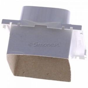 Simon Classic MGZ2MzP/11 - Pokrywa gniazda podwójnego z bolcem uziemiającym i przesłonami torów prądowych - Biały - Podgląd zdjęcia 360st. nr 4