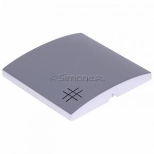 Simon Classic MKW7/26 - Klawisz pojedynczy do wyłącznika krzyżowego - Aluminiowy Met. - Podgląd zdjęcia 360st. nr 7