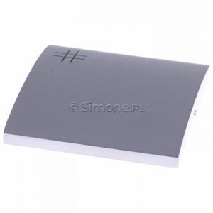 Simon Classic MKW7/26 - Klawisz pojedynczy do wyłącznika krzyżowego - Aluminiowy Met. - Podgląd zdjęcia 360st. nr 4