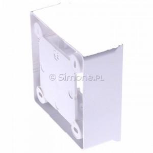 Simon Basic MPN1/11 - Puszka instalacyjna pojedyncza naścienna płytka - Biały - Podgląd zdjęcia 360st. nr 3