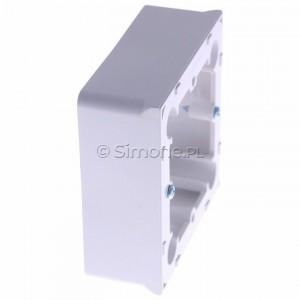 Simon Basic MPN1/11 - Puszka instalacyjna pojedyncza naścienna płytka - Biały - Podgląd zdjęcia 360st. nr 2