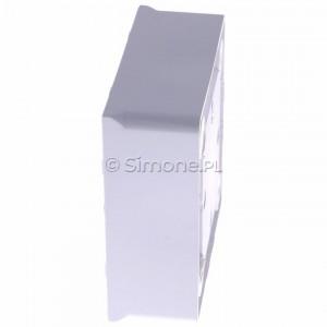 Simon Basic MPN1/11 - Puszka instalacyjna pojedyncza naścienna płytka - Biały - Podgląd zdjęcia 360st. nr 6