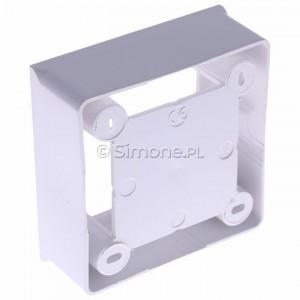 Simon Basic MPN1/11 - Puszka instalacyjna pojedyncza naścienna płytka - Biały - Podgląd zdjęcia 360st. nr 5