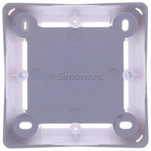 Simon Basic MPN1/11 - Puszka instalacyjna pojedyncza naścienna płytka - Biały - Podgląd zdjęcia 360st. nr 9