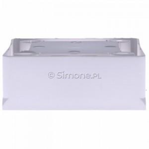 Simon Basic MPN1/11 - Puszka instalacyjna pojedyncza naścienna płytka - Biały - Podgląd zdjęcia 360st. nr 8