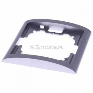 Simon Classic MR1/26 - Ramka pojedyncza - Aluminiowy Met. - Podgląd zdjęcia 360st. nr 2