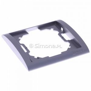 Simon Classic MR1/26 - Ramka pojedyncza - Aluminiowy Met. - Podgląd zdjęcia 360st. nr 1