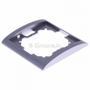 Simon Classic MR1/26 - Ramka pojedyncza - Aluminiowy Met. - Podgląd zdjęcia 360st. nr 7
