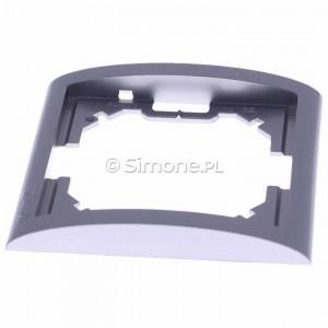 Simon Classic MR1/26 - Ramka pojedyncza - Aluminiowy Met. - Podgląd zdjęcia 360st. nr 6