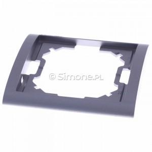 Simon Classic MR1/26 - Ramka pojedyncza - Aluminiowy Met. - Podgląd zdjęcia 360st. nr 4