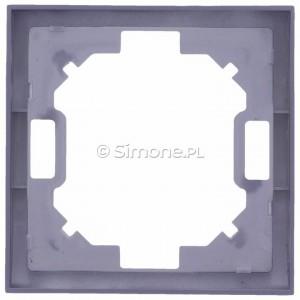 Simon Classic MR1/26 - Ramka pojedyncza - Aluminiowy Met. - Podgląd zdjęcia 360st. nr 9