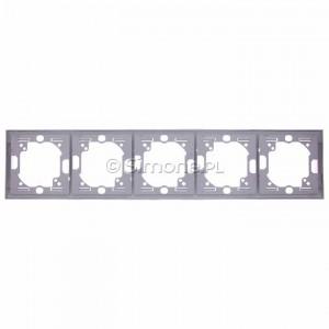 Simon Classic MR5/26 - Ramka pięciokrotna pozioma - Aluminiowy Met. - Podgląd zdjęcia 360st. nr 9