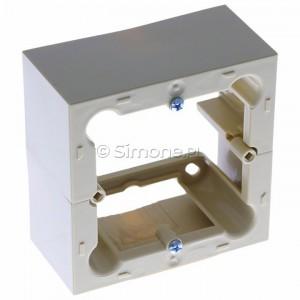 Simon Basic PSC/12 - Puszka instalacyjna pojedyncza naścienna głęboka - Beżowy - Podgląd zdjęcia 360st. nr 1