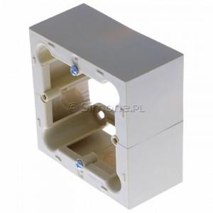 Simon Basic PSC/12 - Puszka instalacyjna pojedyncza naścienna głęboka - Beżowy - Podgląd zdjęcia 360st. nr 7