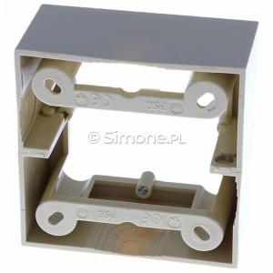 Simon Basic PSC/12 - Puszka instalacyjna pojedyncza naścienna głęboka - Beżowy - Podgląd zdjęcia 360st. nr 4