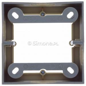 Simon Basic PSC/12 - Puszka instalacyjna pojedyncza naścienna głęboka - Beżowy - Podgląd zdjęcia 360st. nr 9