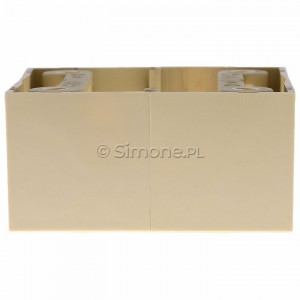 Simon Basic PSC/12 - Puszka instalacyjna pojedyncza naścienna głęboka - Beżowy - Podgląd zdjęcia 360st. nr 8