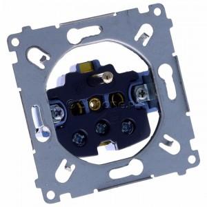 Simon 54 SGZ1M - Mechanizm gniazda pojedynczego z uziemieniem 16A (zaciski śrubowe) - Mechanizmy - Podgląd zdjęcia 360st. nr 1
