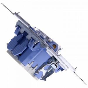 Simon 54 SP2M - Mechanizm przycisku zwiernego podwójnego 10A (do kompletu należy dokupić rameczkę oraz klawisze) - Mechanizmy - Podgląd zdjęcia 360st. nr 3