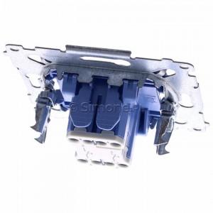 Simon 54 SP2M - Mechanizm przycisku zwiernego podwójnego 10A (do kompletu należy dokupić rameczkę oraz klawisze) - Mechanizmy - Podgląd zdjęcia 360st. nr 4