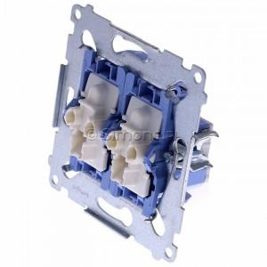 Simon 54 SW6/2XLM - Mechanizm łącznika schodowego podwójnego z podświetleniem LED 10A (niezależny układ podświetlający dla każdego z klawiszy, do kompletu należy dokupić rameczkę oraz klawisze) - Mechanizmy - Podgląd zdjęcia 360st. nr 7
