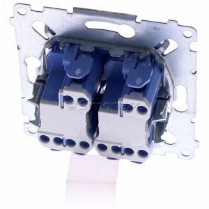 Simon 54 SW6/2XLM - Mechanizm łącznika schodowego podwójnego z podświetleniem LED 10A (niezależny układ podświetlający dla każdego z klawiszy, do kompletu należy dokupić rameczkę oraz klawisze) - Mechanizmy - Podgląd zdjęcia 360st. nr 4