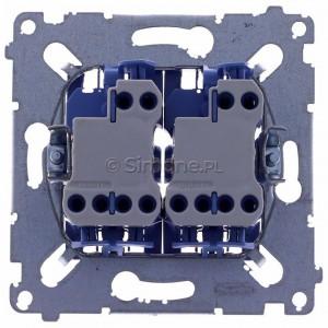 Simon 54 SW6/2XLM - Mechanizm łącznika schodowego podwójnego z podświetleniem LED 10A (niezależny układ podświetlający dla każdego z klawiszy, do kompletu należy dokupić rameczkę oraz klawisze) - Mechanizmy - Podgląd zdjęcia 360st. nr 9