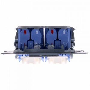 Simon 54 SW6/2XLM - Mechanizm łącznika schodowego podwójnego z podświetleniem LED 10A (niezależny układ podświetlający dla każdego z klawiszy, do kompletu należy dokupić rameczkę oraz klawisze) - Mechanizmy - Podgląd zdjęcia 360st. nr 8