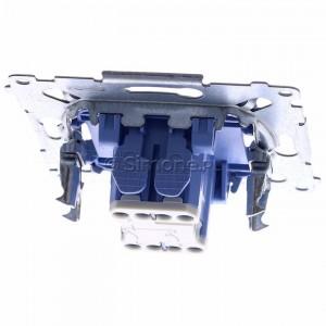 Simon 54 SZP1M - Mechanizm przycisku żaluzjowego dwuklawiszowego 10A (do kompletu należy dokupić rameczkę oraz klawisze) - Mechanizmy - Podgląd zdjęcia 360st. nr 4
