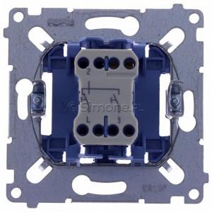 Simon 54 SZP1M - Mechanizm przycisku żaluzjowego dwuklawiszowego 10A (do kompletu należy dokupić rameczkę oraz klawisze) - Mechanizmy - Podgląd zdjęcia 360st. nr 9