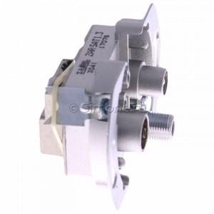 Simon Classic ZAR-SAT1.3/1 - Mechanizm gniazda antenowego RTV-SAT końcowego 1,5db - Podgląd zdjęcia 360st. nr 2